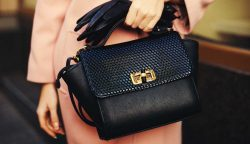 leather fancy goods handbag