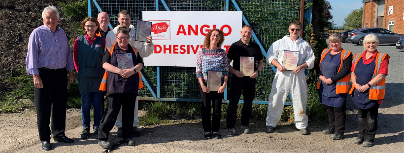 Anglo Adhesives Team ADR Training Peter Kinder Lisa McDonald Mark Wisbey Terry Lake