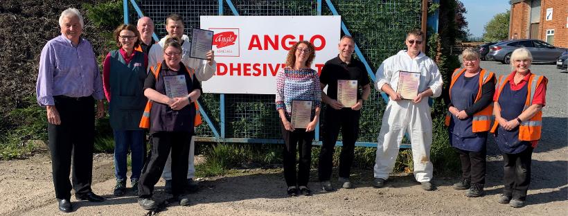 Anglo Adhesives Team ADR Training Peter Kinder Lisa McDonald Mark Wisbey Terry Lake